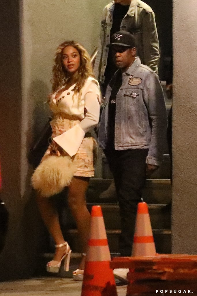 """Moments before Beyoncé unveiled her precious twins to the world, she made a very low-key appearance in LA. On Thursday, the singer attended an event celebrating Roc Nation's Vic Mensa alongside husband JAY-Z, marking her first public outing since giving birth. While the rapper got up on stage to present his company's artist, the mother of three stayed in the VIP area for the showcase at Mack Sennett Studios. Even though her team flashed lights at people trying to take photos, bystanders say she looked happy and relaxed as she enjoyed the music from afar. On Friday, Beyoncé shared even more photos from her night out, including one of her and JAY-Z hugging.      Related:                                                                                                           20 People Whose Lives Were Forever Changed When Beyoncé Unveiled Her Twins               The pair have certainly had a busy month. Aside from expanding their family, JAY-Z recently dropped his 13th solo album, 4:44. Not only did he open up about cheating on Beyoncé, but their daughter Blue Ivy even made a special appearance by rapping on his bonus track, """"Blue's Freestyle/We Family."""""""