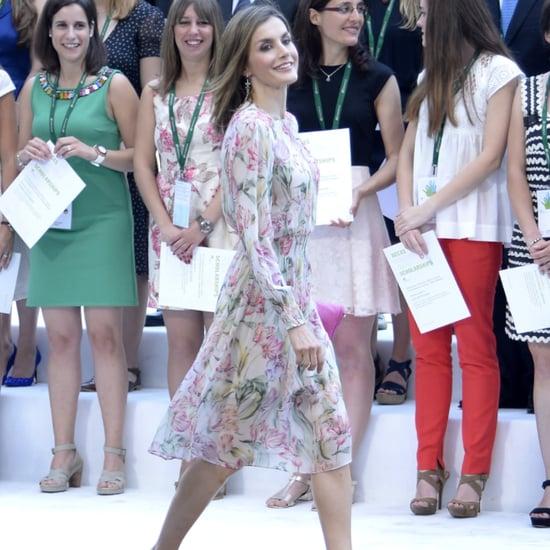 Queen Letizia's Zara Floral Dress July 2016