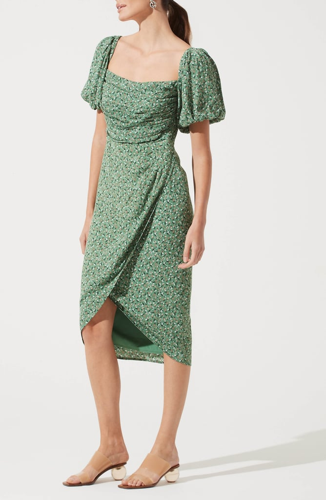 ASTR the Label Square Neck Bubble Sleeve Dress
