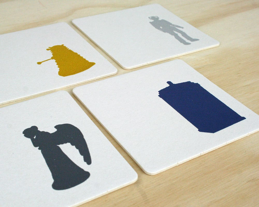 Doctor Who Letterpress Coaster Set