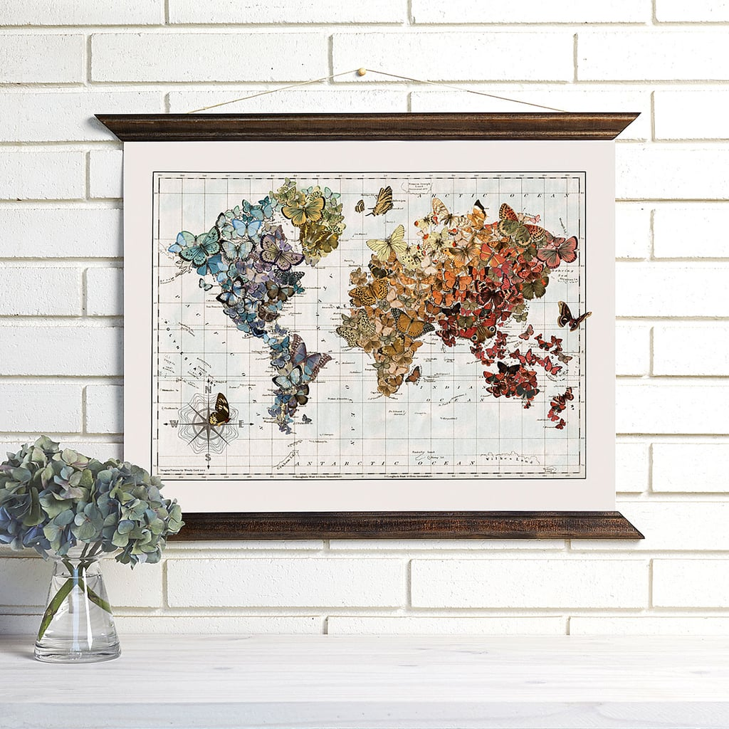Butterfly Map Wall Hanging ($149)