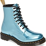 Dr. Martens 1460 Chrome Boots in Blue Chrome