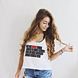 """Paper Towns """"In Love With Cities"""" Quote Tank ($16)"""