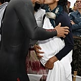 Matthew McConaughey kissed Camila Alves after he completed the September 2008 Nautica Malibu Triathlon.