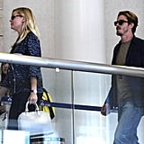 Kirsten Dunst and boyfriend Garrett Hedlund flew together.