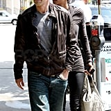 Halle Leaves Gabriel at Court and Heads to Lunch With Olivier