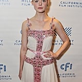 She Worked Her Bejeweled Prada Dress on the Red Carpet