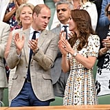 Will and Kate shared a few smiles while cheering in the stands at Wimbledon's Men's Final in July 2016.