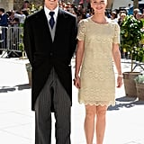 Siblings Archduke Alexander and Archduchess Gabriella of Austria posed for pictures.