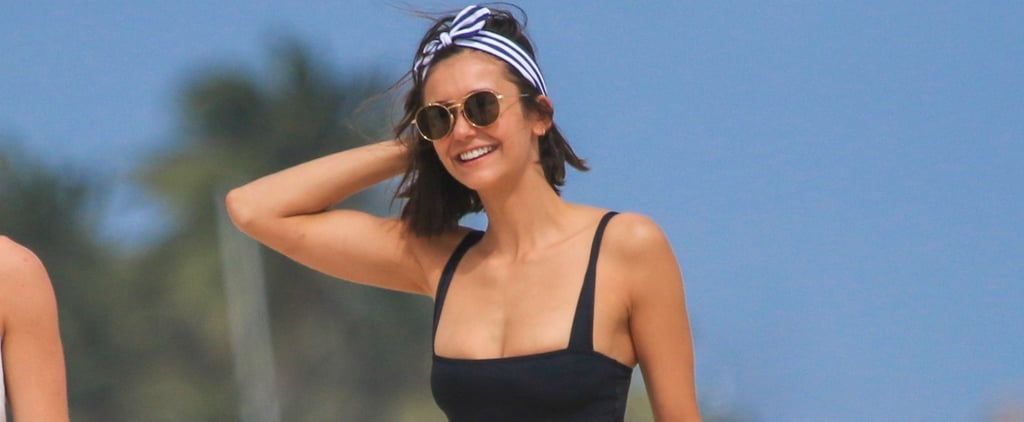 Nina Dobrev's Magical One-Piece Can Zip Off Into a Bikini Right Before Your Eyes