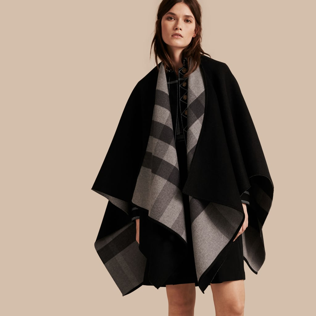 If she loves classic pieces, she'll appreciate Burberry's Reversible Check Merino Wool Poncho ($950).