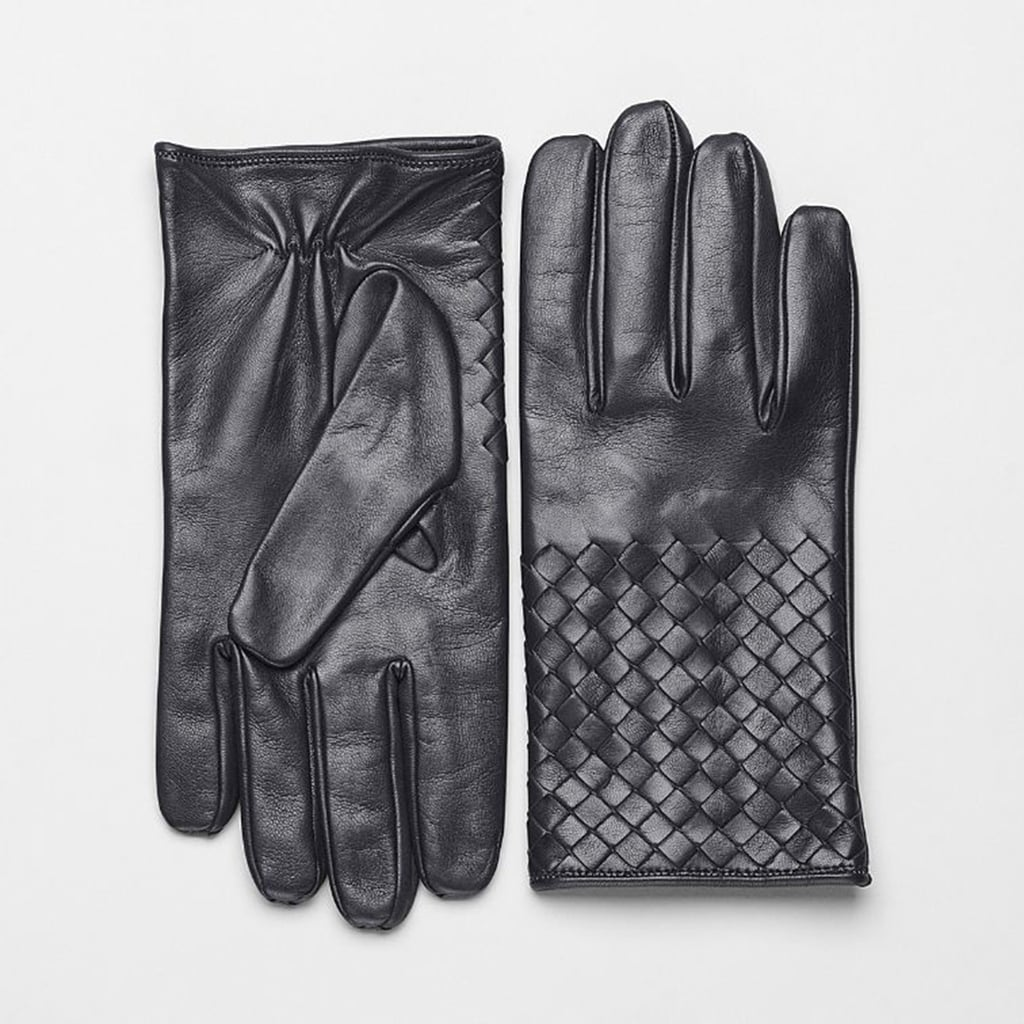 Up his glove game with this pair of Bottega Veneta gloves ($390) with their buttery soft leather in the brand's signature woven design.