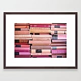 Society6 Vintage Pink Stacks Framed Art Print by Sorrythankyou79