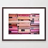 Society6 Vintage Pink Stacks Framed Art Print by sorrythankyou79