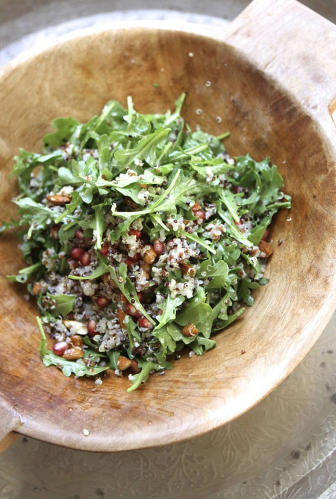 Quinoa Salad With Almonds, Pomegranates, and Arugula