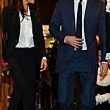 Meghan Markle's Black Alexander McQueen Suit 2018