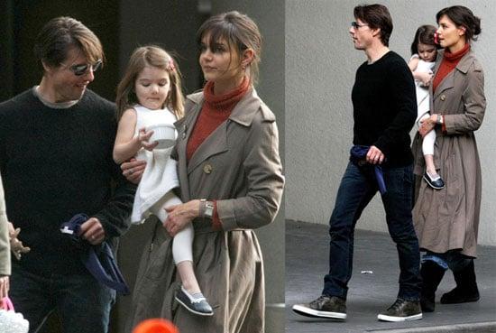 Photos of Suri Cruise, Tom Cruise, Katie Holmes on Set in Melbourne, Australia