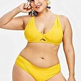 Zaful Plunge Cami Strap Bikini