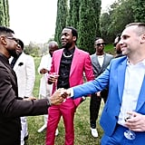 Usher, Meek Mill, and Michael Rubin at the 2020 Roc Nation Brunch in LA