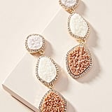 BaubleBar Druzy Drop Earrings