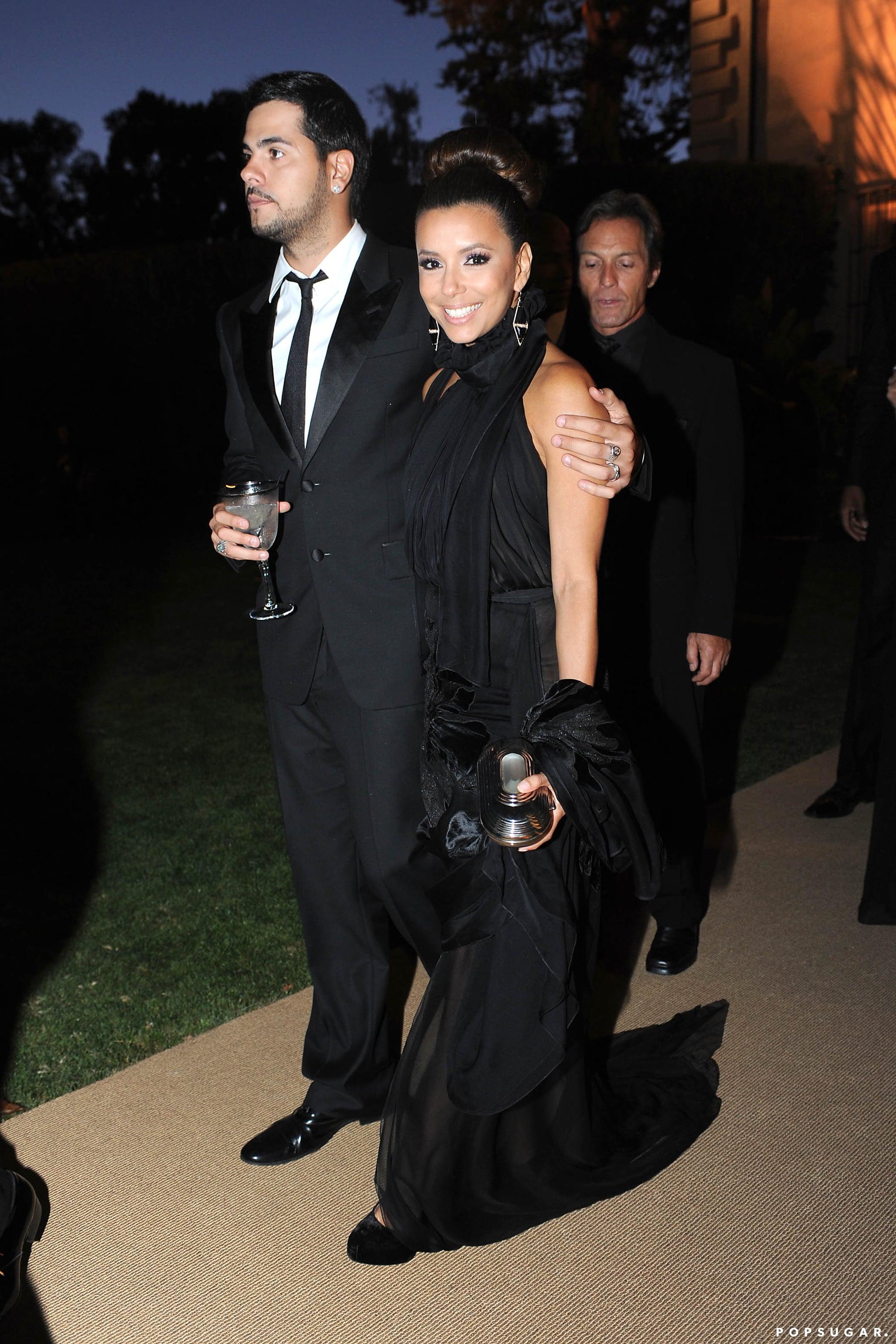 Eva Longoria brought her then-boyfriend, Eduardo Cruz, along for the festivities.
