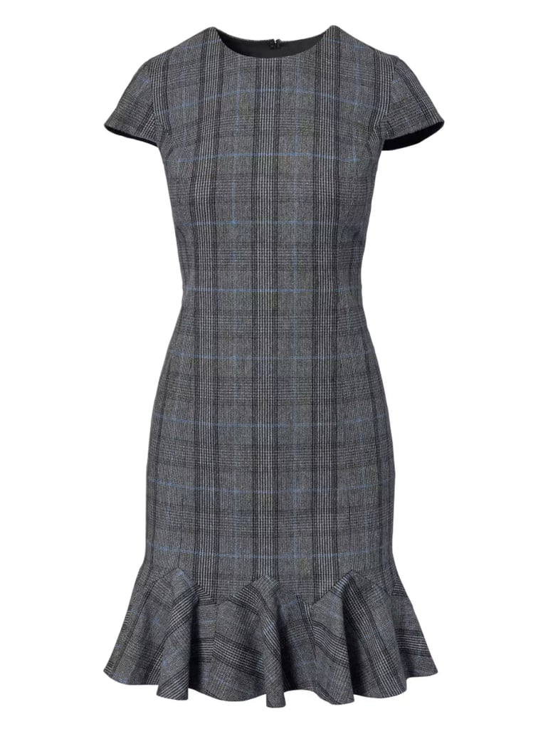 2c5dd3fbcfb Banana Republic Plaid Godet-Flounce Sheath Dress