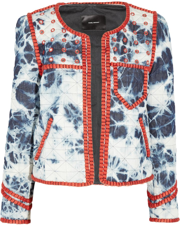 We love the bohemian feel of this tie-dye jacket — let it stand out by wearing it over a black dress or pants.  Isabel Marant Wonda Tie-Dye Jacket ($1,960)