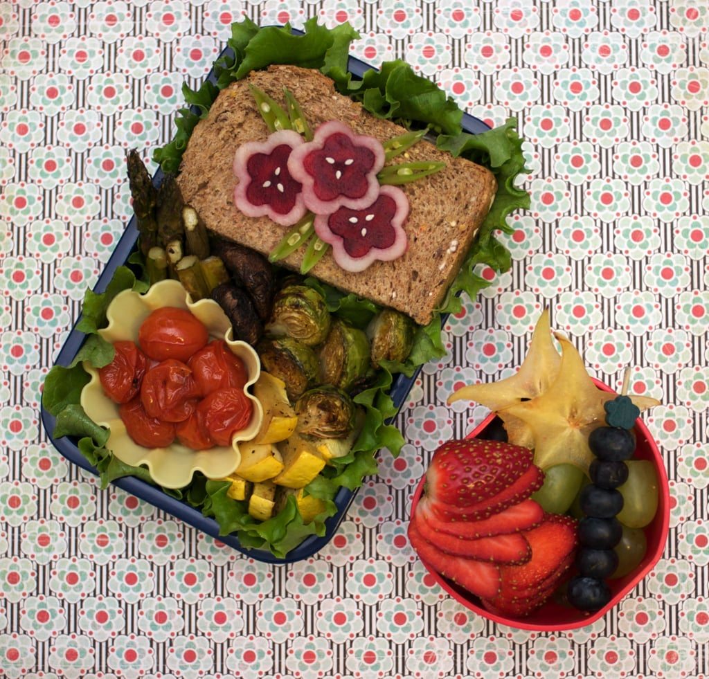 Flowered Sandwich Bento