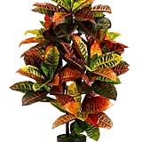 Artificial Croton Palm Tree
