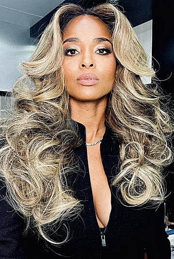 Ciara Tried Out the Groovy '70s Farrah Fawcett Hairstyle