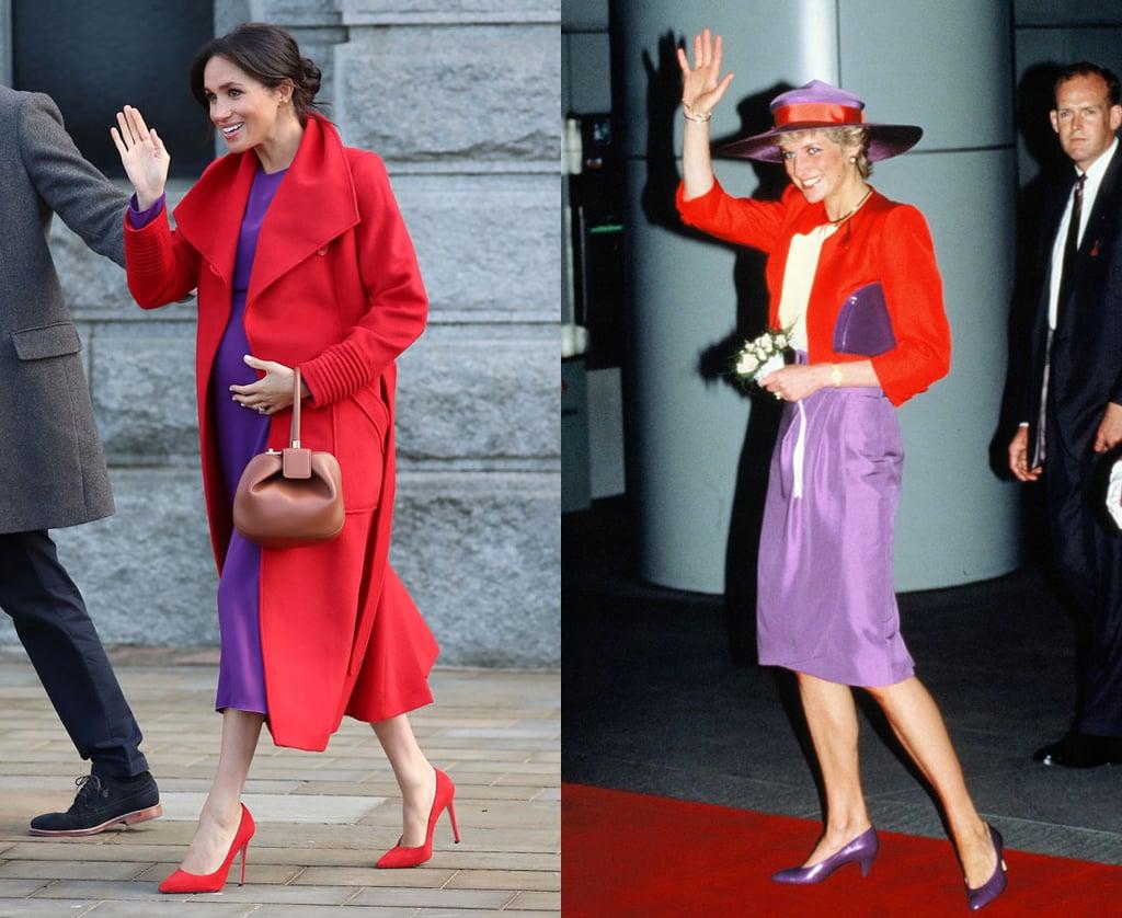 Meghan Markle Dressing Like Princess Diana Jan. 2019