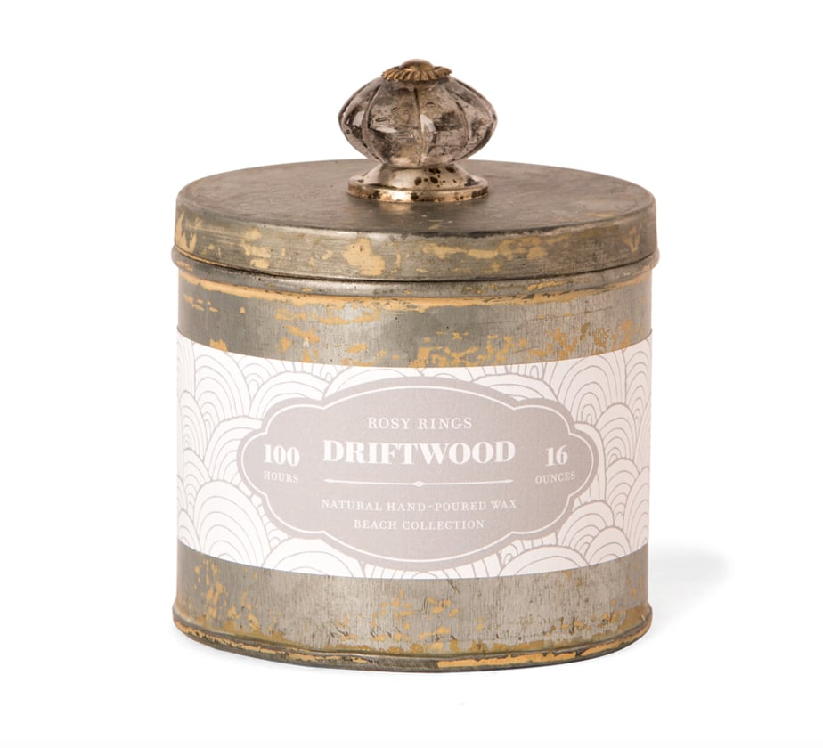 Rosy Rings Driftwood Beach Candle ($32.75)