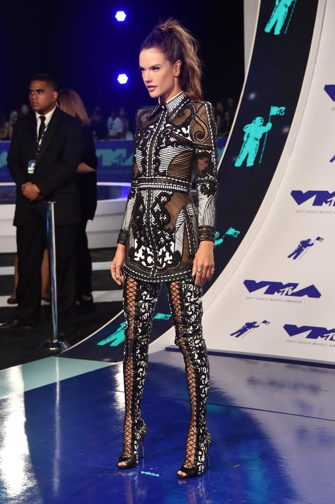 Alessandra Ambrosio's Legging Boots at the MTV VMAs 2017 ... алессандра амбросио