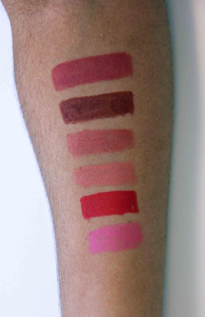 Kardashian Beauty Mirror Matte Lip Crayons Swatched on Medium to Dark Skin