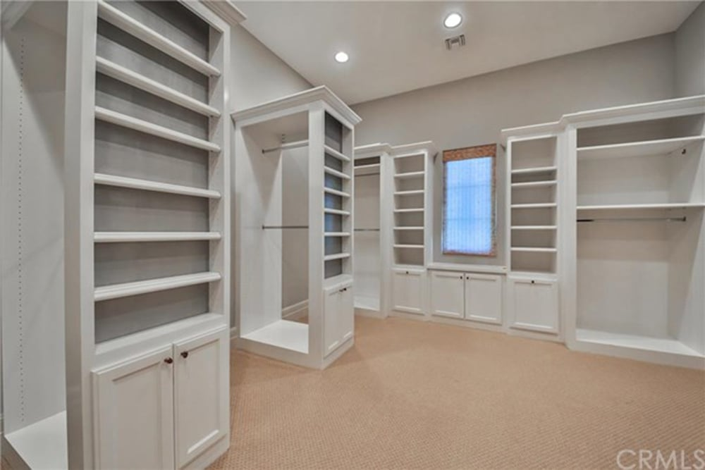 No mansion is complete without a giant walk-in closet.