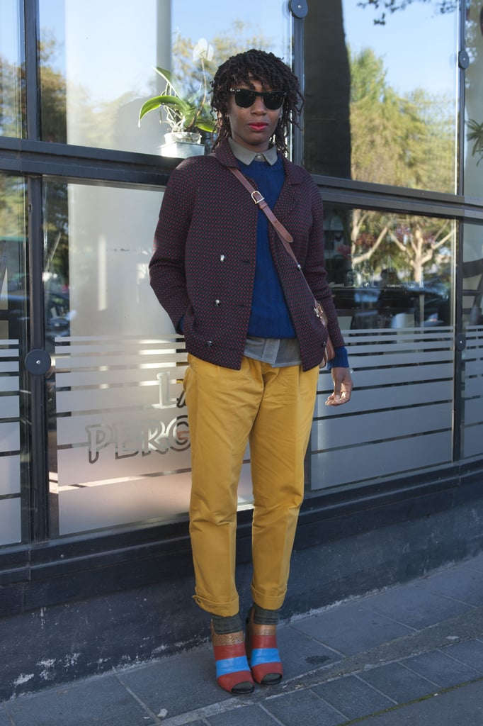 Mustard yellow and pops of Fall tones gave this look a definitive color story.