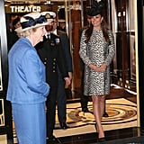 Kate Middleton took a tour of the new liner.