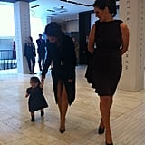 Victoria Beckham brought Harper Beckham to Dublin.  Source: Twitter user CKennedyPR
