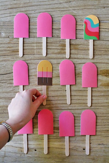 Popsicle Memory Game