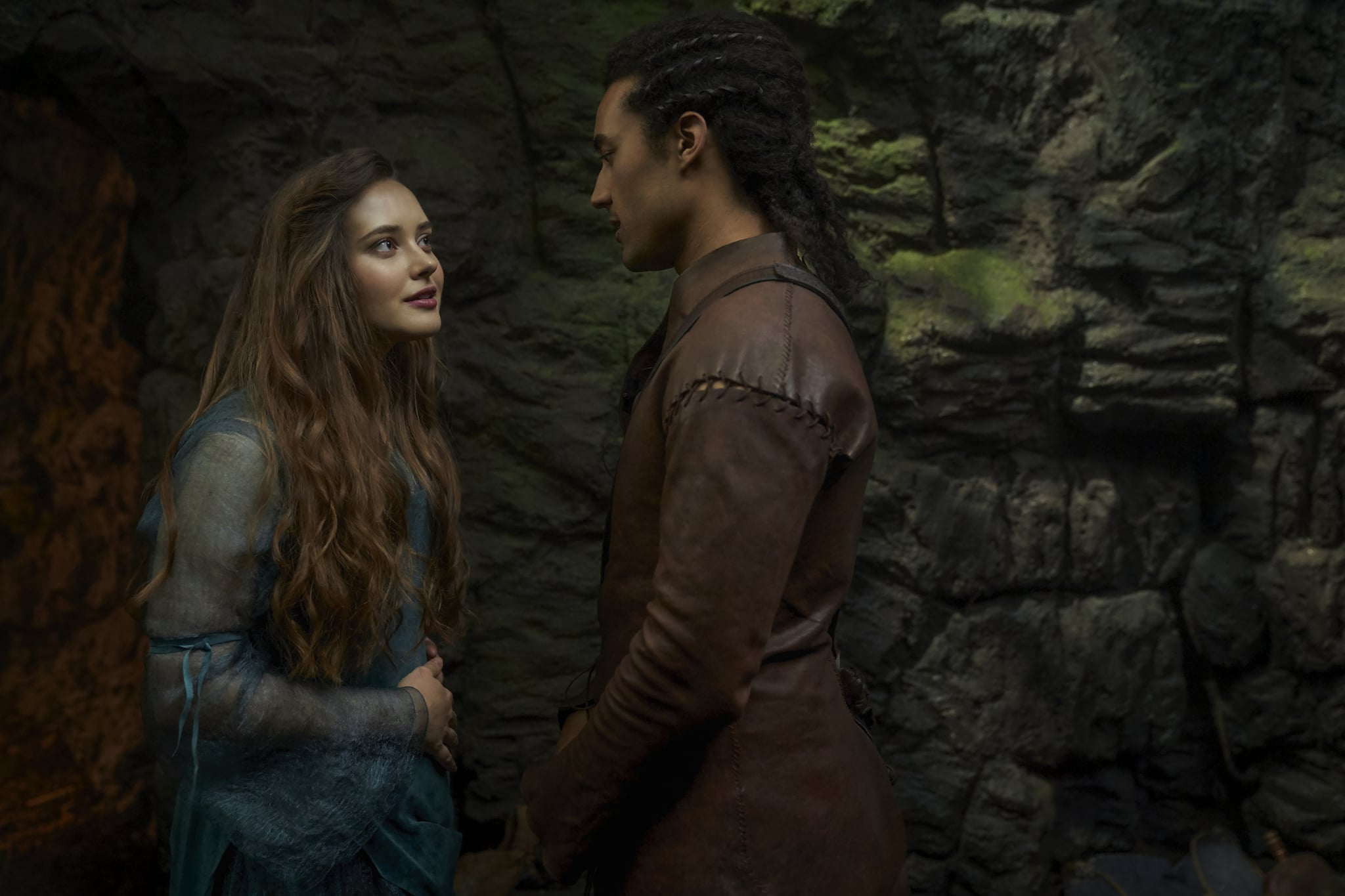 CURSED (L TO R) KATHERINE LANGFORD as NIMUE and DEVON TERRELL as ARTHUR in episode 105 of CURSED Cr. ROBERT VIGLASKY/Netflix  2020