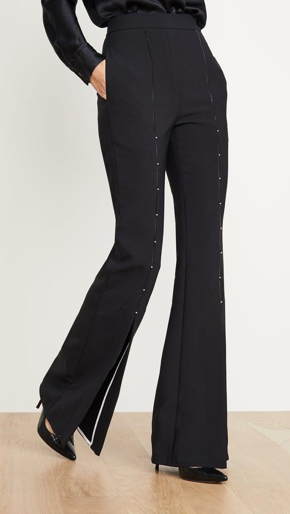 Ellery Jimmy Split Front Embellished Pants