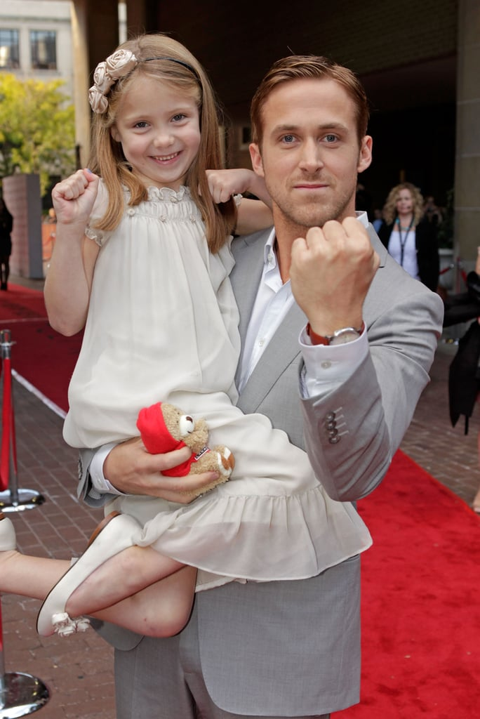 Ryan Gosling goofed around with his onscreen daughter Faith Wladyka at the 2010 premiere of their drama Blue Valentine.