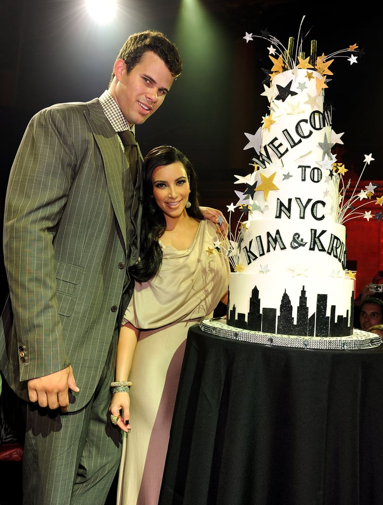 She and Kris were welcomed to NYC with a party in their honor at Capitale in August 2011.