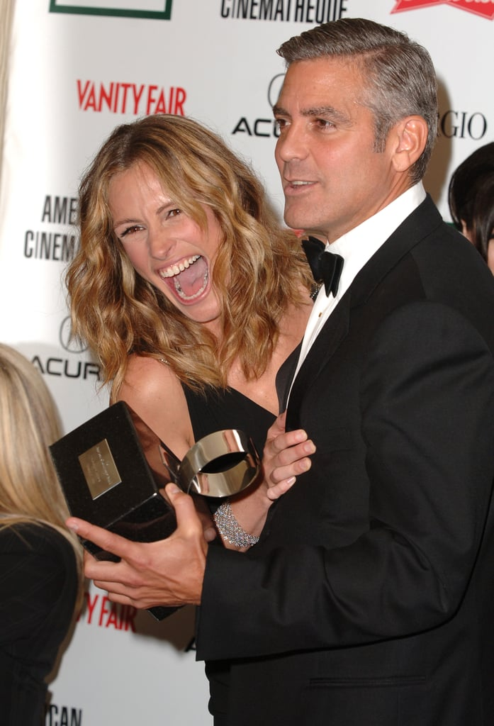 She helped honor friend George Clooney with an American Cinematheque Award in 2006.