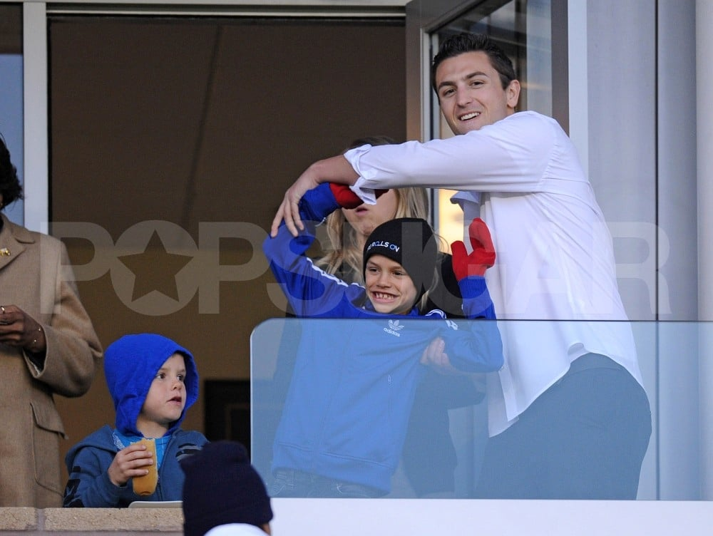 Romeo Beckham and Cruz Beckham watched their dad David Beckham play with the LA Galaxy.