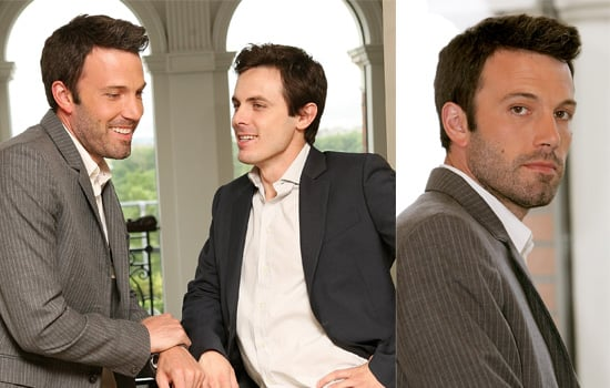 Ben Affleck And Casey Affleck Pose For Photos To Promote The UK Release Of Gone Baby Gone