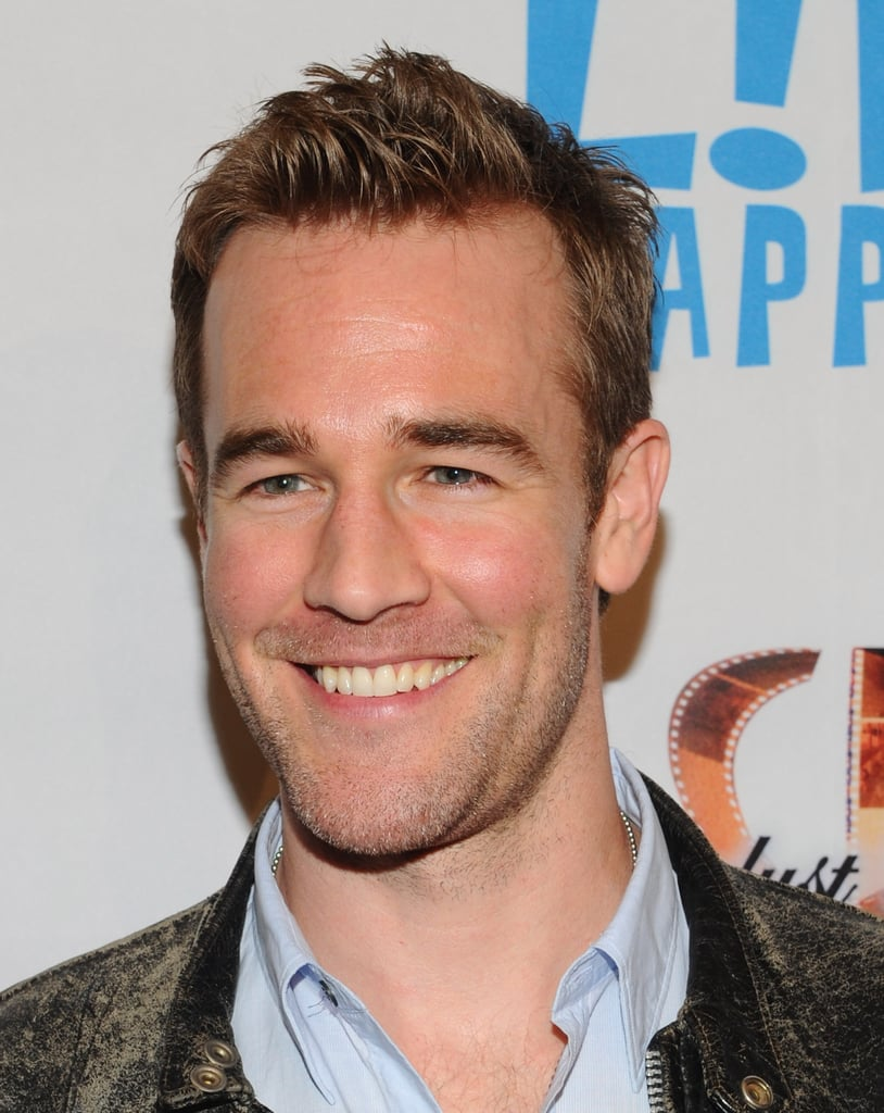 James Van Der Beek smiled at the premiere of Life Happens in Century City.