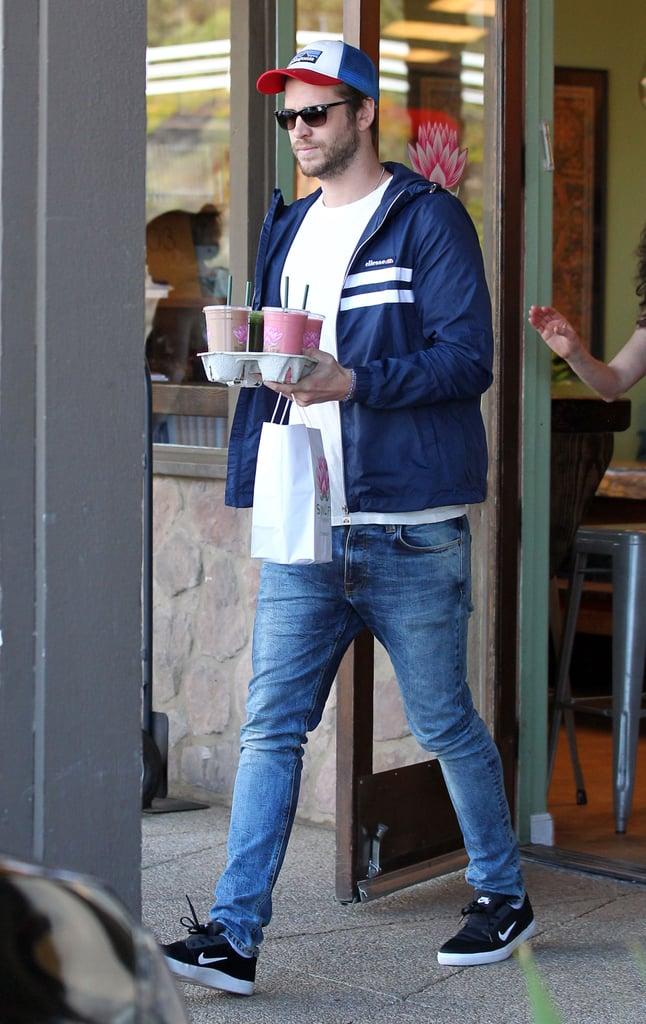 Liam Hemsworth Out in Malibu Photos April 2016