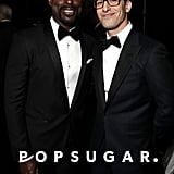 Pictured: Sterling K. Brown and Andy Samberg