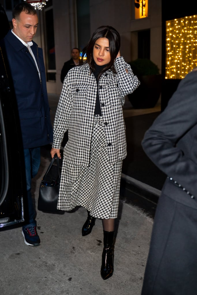 Priyanka Chopra's Houndstooth Outfit Is Under $100 on H&M